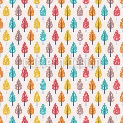 Farbenfroher Herbst Vektor Muster