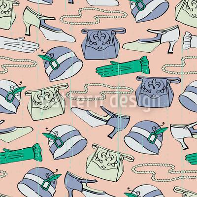 Accessori Des Filles disegni vettoriali senza cuciture