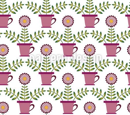 Blumen in der Tasse Vektor Design