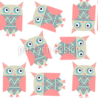 Sweet Owls Repeating Pattern