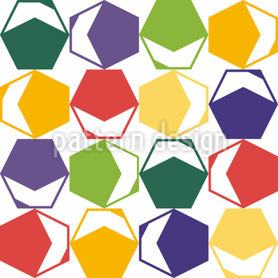 Color Meets Hexagon Repeat Pattern