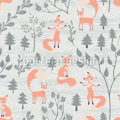 Schönheit und Füchse Muster Design