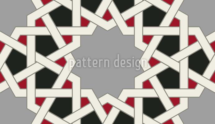 Mosaik Alhambra Wand Nahtloses Muster