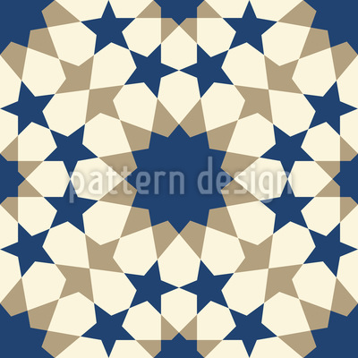 Star Mosaic Alhambra Wall Seamless Vector Pattern