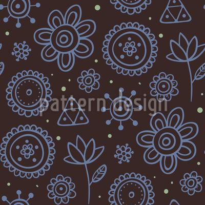 Nachtblumen Vektor Muster