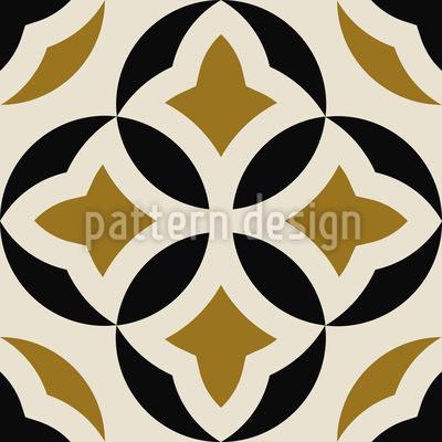 Dekorative Runde Formen Rapportiertes Design