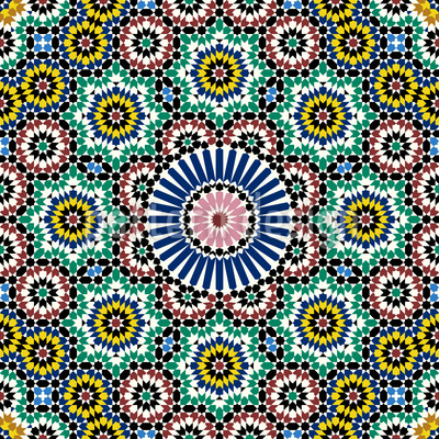 Moroccan Tile Repeat Pattern