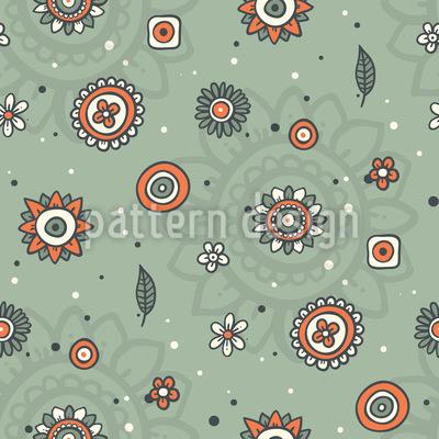 Nette Blumen und Blätter Vektor Muster