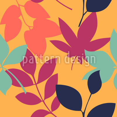 Late Summer Leaves Pattern Design