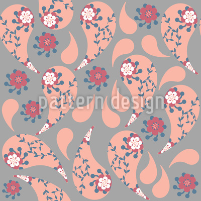 Flower Raindrops Vector Ornament
