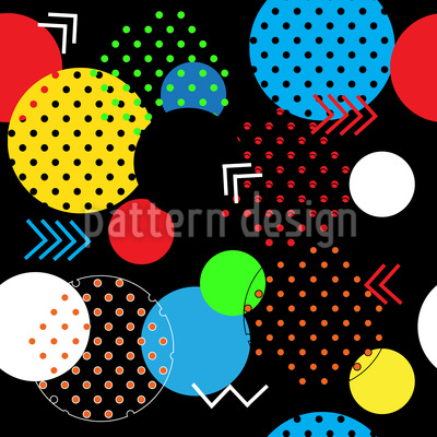 Modern Geometric Shapes Seamless Pattern