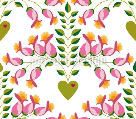 Süsse zarte florale Herzen Vektor Muster