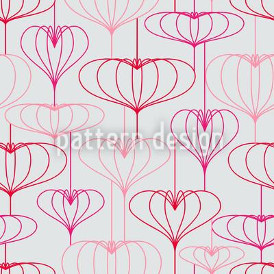 Romantische Lampionherzen Vektor Design