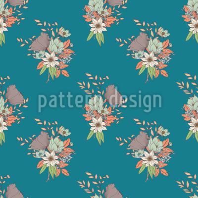 Lovely Flower Bouquet Vector Pattern