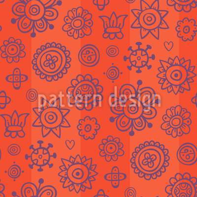 Sonnenuntergang Blumengarten Vektor Design