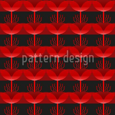 Wütende Blumen Designmuster