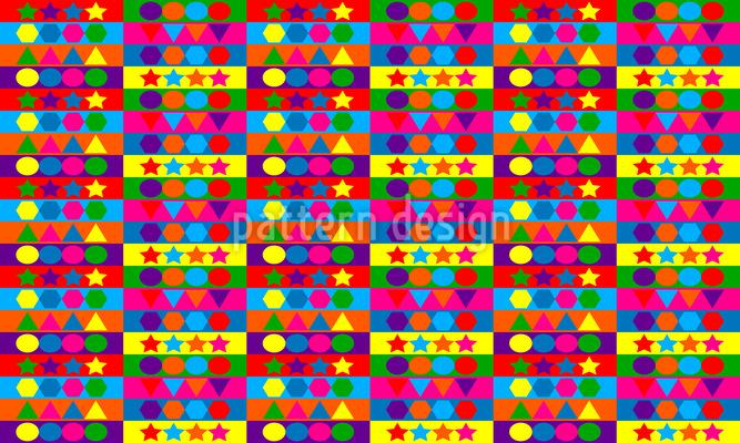 Amüsante Formen Vektor Muster