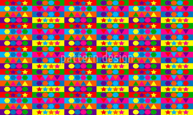 Amusing Shapes  Vector Pattern