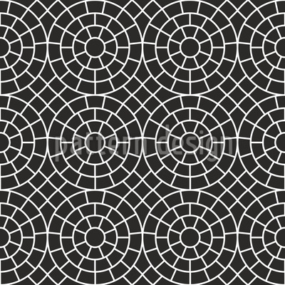 Mosaic Circles Repeat Pattern