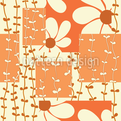 Flower and Liana Repeating Pattern