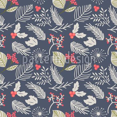 Winterbeeren-Muster Nahtloses Vektormuster