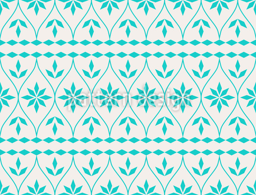 Scandinavian Bordure Seamless Vector Pattern Design