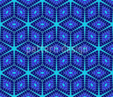 Winter Mosaik Rapportiertes Design