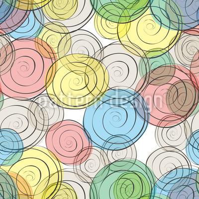 Lustige Spiralen Rapportmuster