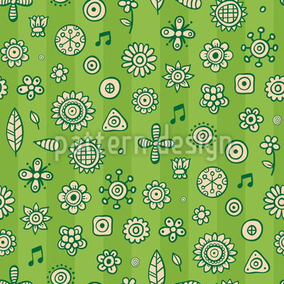 Musical Garden Pattern Design
