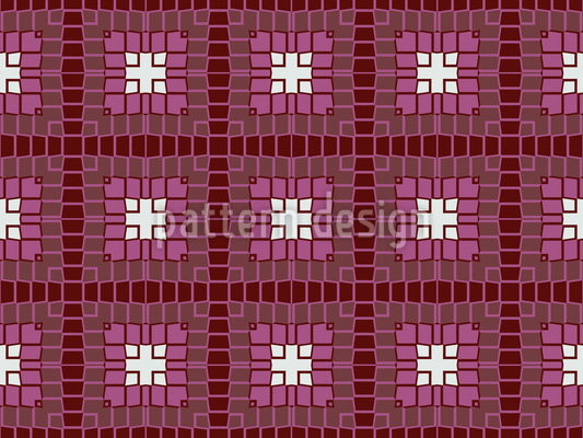 Mystic Square Shapes Vector Pattern