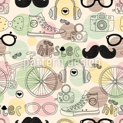 Hipster-Motiv Rapportiertes Design