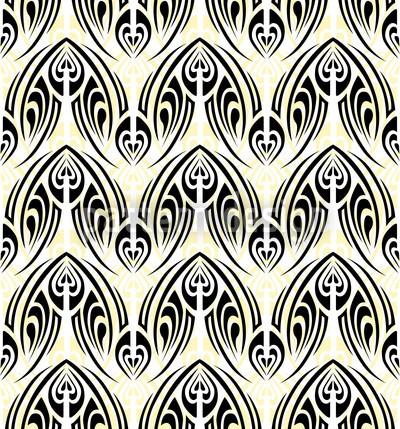 Maori Branco Design de padrão vetorial sem costura