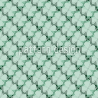 Moderner Glücksklee Muster Design