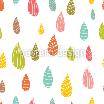 Mädchenhafte Regentropfen Rapportiertes Design
