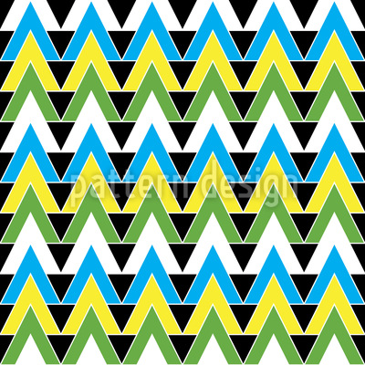 Triangles Become Mad Vector Pattern