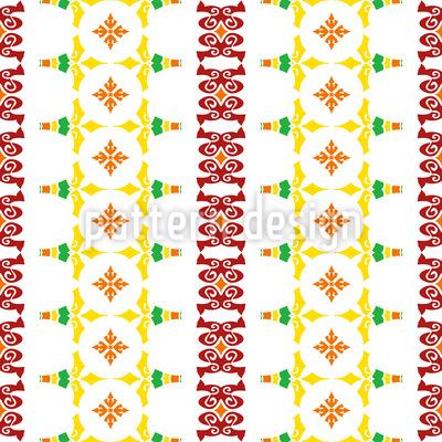Striped Folk Art Vector Design