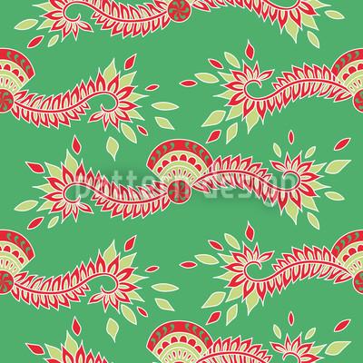 Persia Green Pattern Design