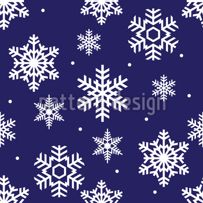 Snow Time Repeating Pattern