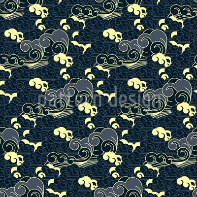 Japanisches Wellen Muster Design
