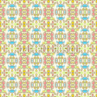Karierter Batik Traum Muster Design