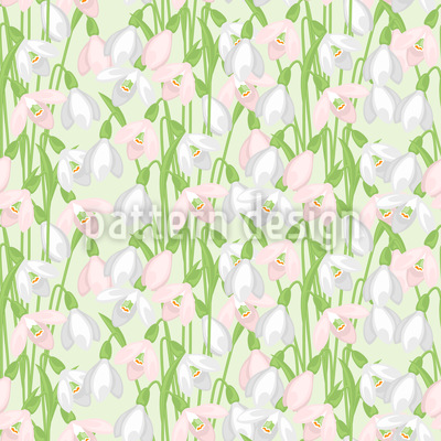 Spring Snowdrops Repeating Pattern
