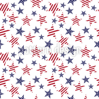 Patriotic Stars Pattern Design