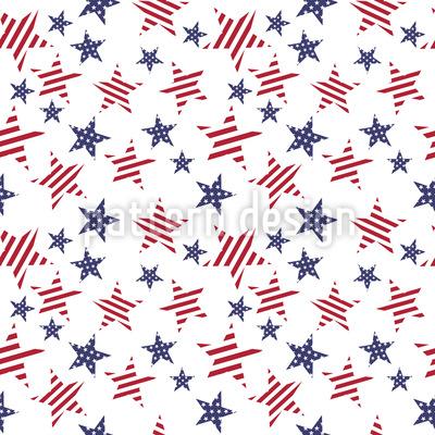 Patriotische Sterne Muster Design