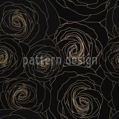 Konturierte Rosen Musterdesign