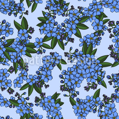 Flower Branches Seamless Pattern