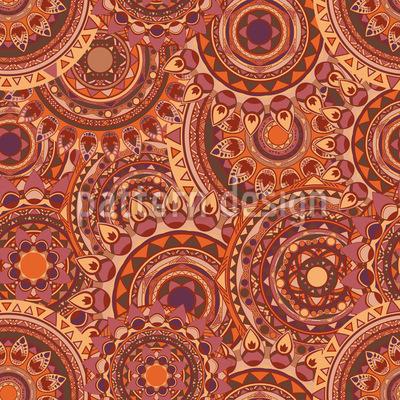 Mandalakarneval Nahtloses Vektor Muster