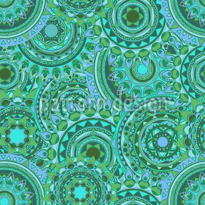 Vielfältige Mandalas Vektor Muster