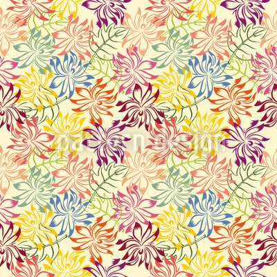 Autumn Day Repeating Pattern