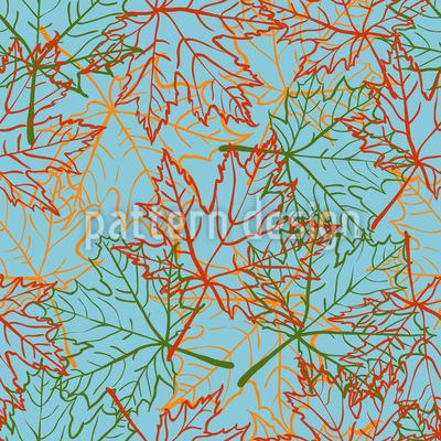 Treibende Ahornblätter Muster Design