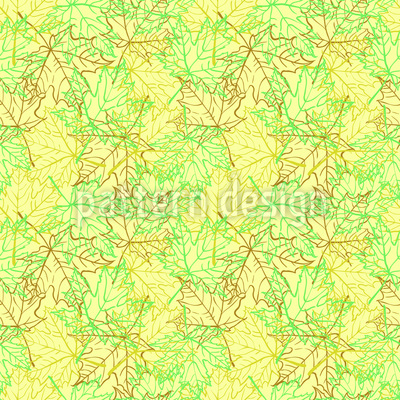Scent of Maple-Forest Vector Ornament